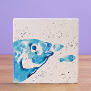 Picture of BiggDesignAnemoSS Gilt-Sea Bream Natural Stone Coaster