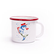 Picture of BiggDesignAnemoSS Micho Fish Enamel Mug