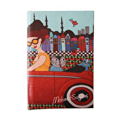 Picture of BiggDesign Girl in CarTrolley Note Book 9x14