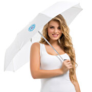 Picture of BiggDesign White Umbrella With Evil Eye Pattern