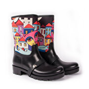 Picture of BiggDesign  Owl and the City Rain Boots, Size 36
