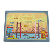 Picture of BiggDesign Smiling Istanbul Bosphorus Metal Post Card