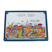 Picture of BiggDesign Smiling Istanbul Galata Metal Post Card