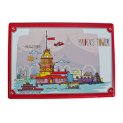 Picture of BiggDesign Smiling Istanbul Maiden Tower Metal Postcard