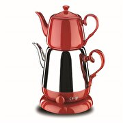 Picture of Korkmaz A339-01 Nosta Teapot Inox-Red