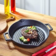 Picture of  Lava Cast Iron Casserole 30 cm Black Round Grill Pan