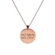Picture of  Mymacht Silver Necklace - No Man No Cry - Rose Silver