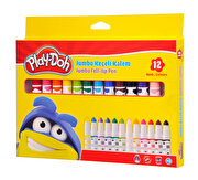 Picture of Play Doh Jumbo Keçeli Kalem Karton 12 Renk 8 Mm