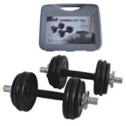 Picture of Voit rubber covered dumbbell set  15kg
