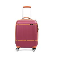Picture of  Baggaj V209 ABS Cabin Size Suitcase - Claret Red