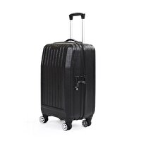 Picture of   Baggaj V303 ABS Medium Size Suitcase - Black
