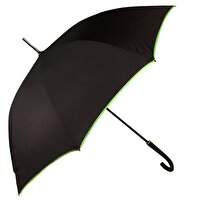 Picture of  Biggbrella Green Stripe Long Black Umbrella