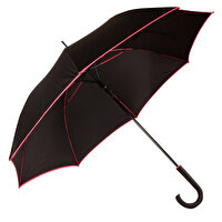 Picture of  Biggbrella Pink Stripe Long Black Umbrella