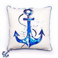Picture of BiggDesign AnemoSS Anchor Square Pillow by Turkish Artist, 40x40 cm