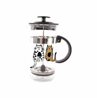 Picture of Biggdesign Cats in Istanbul French Press 350 Ml, Stainless Steel Filter High Borosilicate Carafe