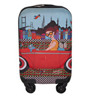 Picture of  Biggdesign 'Girl In a Car' Artist Designed Canvas Luggage, 18""