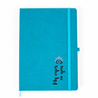 Picture of Biggdesign My Eyes On You Notebook, 14x22cm , with thermo leather cover, vivid colors design