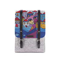 Picture of  BiggDesign Owl And City Felt Backpack