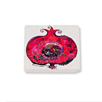 Picture of BiggDesign Pomegranate Natural Stone Coaster, Designed by Turkish Designer