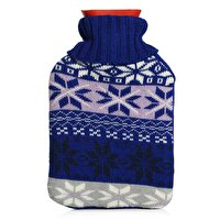 Picture of BIGGHOME Blue Snow Pattern Hot Water Bottle