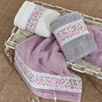 Picture of Ecocotton Bloomy Lilac 100% Original Turkish Cotton Kitchen Towel Set, 30*50 Cm