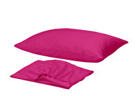 Picture of Gold Case 100% Cotton Single Size Bed Sheet Set - Fuchsia
