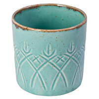 Picture of Porland Christina Sea Home Turquoise Glass,230 Cc,Embossed Design