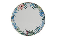 Picture of Porland Exotic Platter, Porcelain Serving Plates, 6-Piece