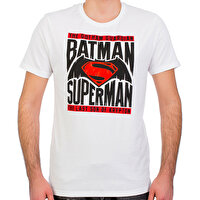 Picture of Batman v Superman White Man's T-Shirt Small