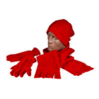 Picture of Bigg Polar Scarf-Berets-Glove Set- Red