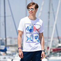 Picture of BiggDesign AnemosS Aquarium Men's Crew-neck White T-Shirt - Small