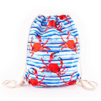 Picture of BiggDesign AnemosS Crab Patterned Drawstring Backpack
