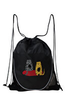 Picture of BiggDesign Cats Pleated Black Bag
