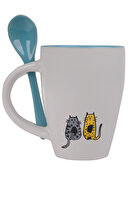 Picture of Biggdesign Cats in Istanbul Ceramic Mug With Spoon