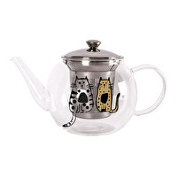 Picture of   Biggdesign Cats in Istanbul Glass Teapot with Infuser by Zeynep Pak