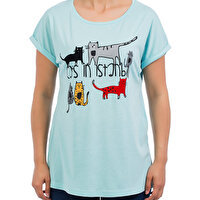 Picture of BiggDesign Cats in Istanbul Green Woman's T-Shirt L