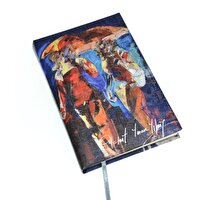 Picture of BiggDesign People with Umbrellas Medium Size Note Book