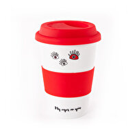 Picture of  Biggdesign Eyes On You Lidded Red Ceramic Mug