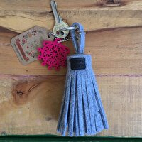 Picture of BiggDesign BC 3000 Sun Disk Felt Tassel Keychain