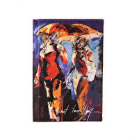 Picture of BiggDesign People with Umbrellas Notebook 9x14 cm