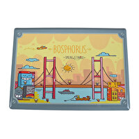Picture of BiggDesign Smiling Istanbul Metal Postcard Bosphorus