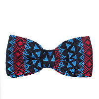 Picture of BIGGFASHION Navy Knitting Pattern Bowtie