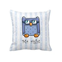 Picture of Bigghome Owl Mr.Right Pillow Case