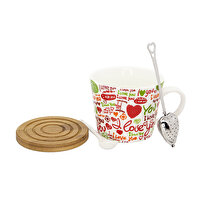 Picture of BIGGMUG Love You Porcelain Mug Set