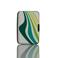 Picture of Nektar Bhac21  Green Pattern Business Card Holder