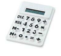 Picture of PF CONCEPT 12345402 White Silicone Calculator