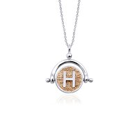 Picture of  Tash Design Letter H Silver Necklace