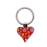 Picture of TROIKA Kyc27/ch Fizzy Flower Heart Keychain