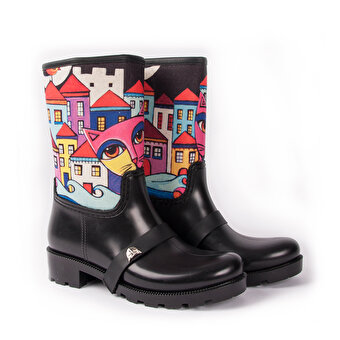 BiggDesign  Owl and the City Rain Boots, Size 36