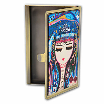Picture of  BiggDesign Blue Water Card Holder, Evil Eye Collection by Turkish Designer